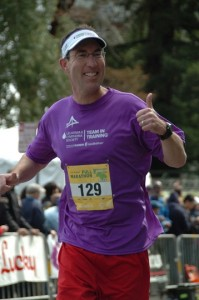 Bob Angus running Oakland Marathon 2012 for Team in Training